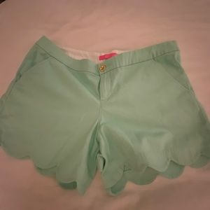 Lilly Pulitzer Buttercup Mint Green Shorts Size 12